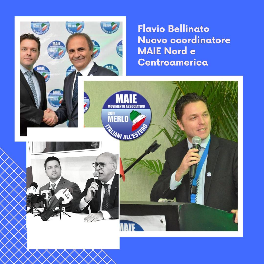Flavio Bellinato Nuovo cordinatore MAIE Nord e Centroamerica
